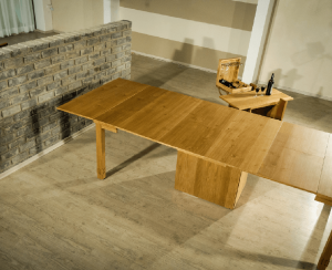 folding oak table